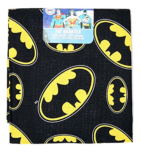 Yellow & Black Batman 100% Cotton Fat Quarter]()