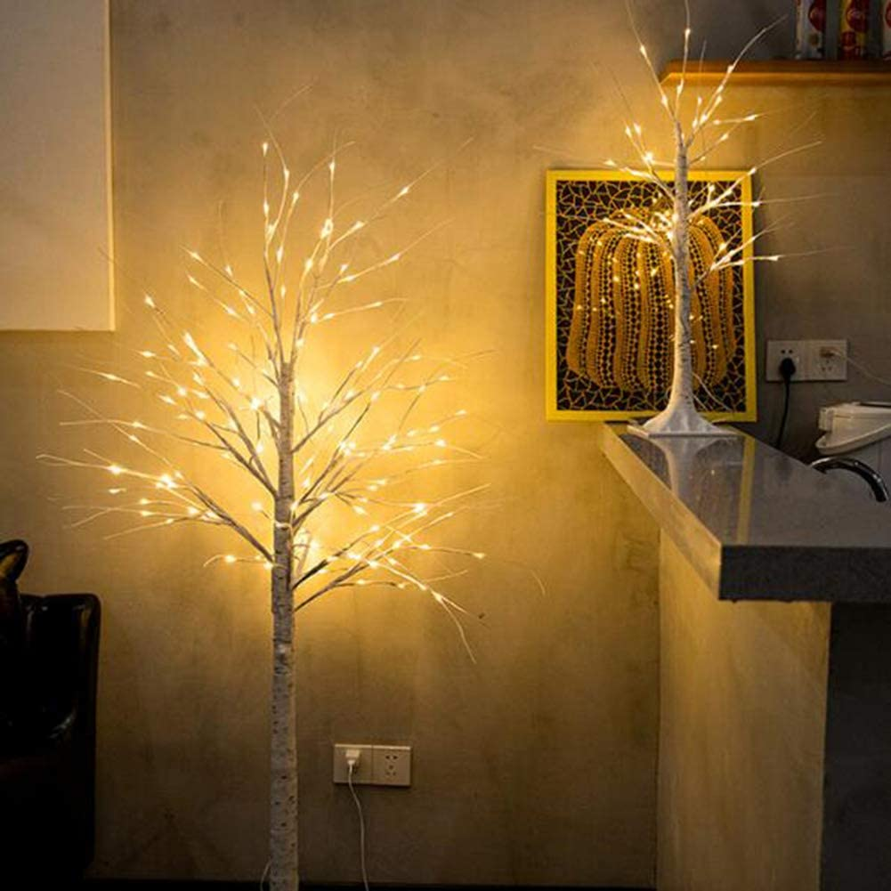Lighted Birch Twig Tree with Fairy Lights 152 LED Warm White Christmas Tree for Indoor Outdoor Home Decoration for Thanksgiving Decor Home Wedding Party Christmas Decoration