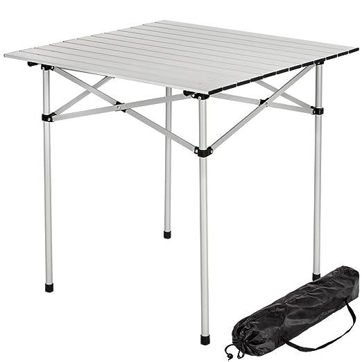 75 opinioni per TecTake Tavolo camper campeggio picnic alluminio pieghevole arrotolabile