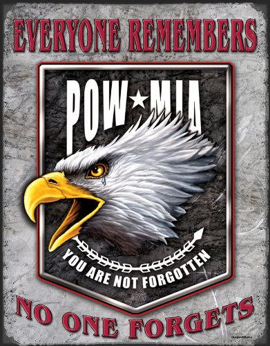 (Legends - POW Eagle Tin Sign 12 x 16in)