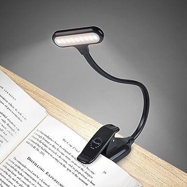 OCOOPA Klemmleuchte Leselampe, LED Buchlampe mit 9 LEDs, Tragbare und Dimmbares Leselicht, 360° Flexibel Schreibtischlampe mi