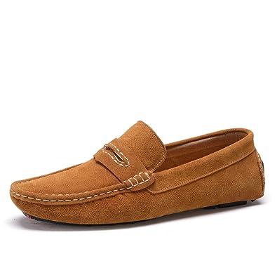 Herren Schuhe Wildleder Formelle Schuhe Leichte Sohlen Loafers & Slip-Ons für Casual Office & Karriere IM Freien (Color : B, Größe : 38) Huan