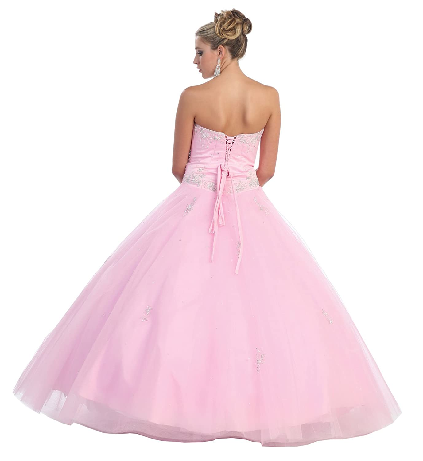 Amazon US Fairytailes Ball Gown Formal Prom Strapless Wedding Dress 2586 Clothing