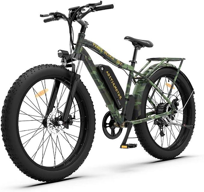 Aostirmotor Electric Mountain Bike 750W 48V 13Ah Power Electric Bicycle Fat Tire Ebike Electric Bicycle for Adults