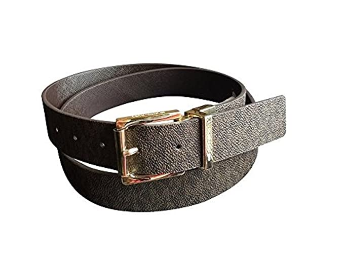 eaa75646f9ba Image Unavailable. Image not available for. Color  Michael Kors Womens  Buckle Solid Brown Logo Brown Reversible Belt Large