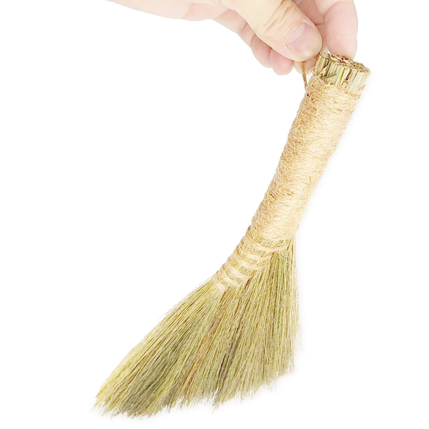 Ann Lee Design Natural Whisk Sweeping Hand Broom (Small and short, Plain)