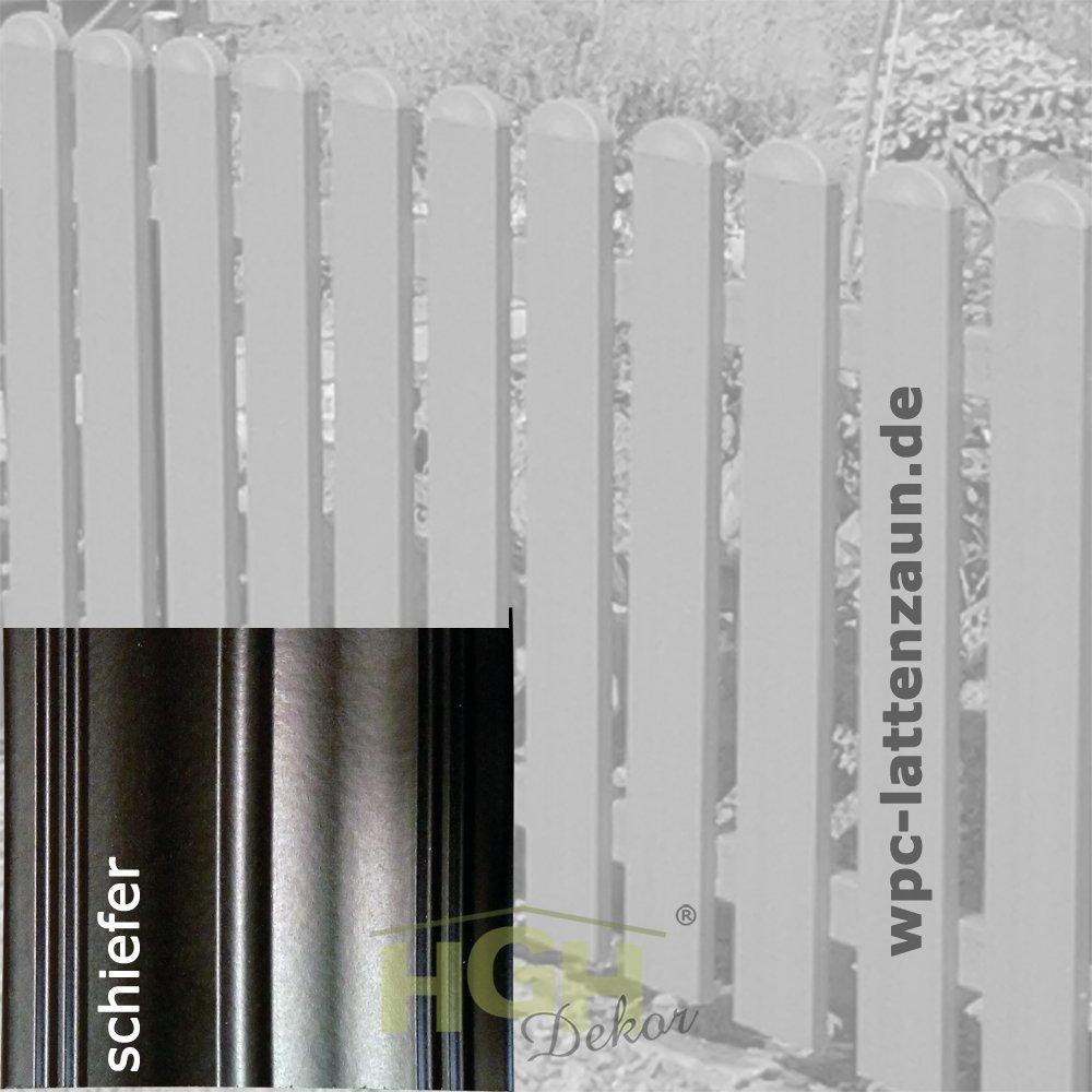 5Stck WPC Zaunfelder B 2m x H 1m Elemente gerade Lattenzaun