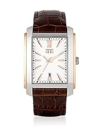 a23ce1e7ab Cerruti 1881 Man Quartz Watch CRB040 °C213 °C 32.0 mm: Amazon.co.uk: Watches