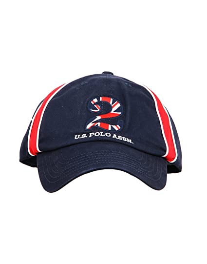 971a907c4bc US Polo Association Men s Cotton Solid Cap (Navy Red)  Amazon.in ...