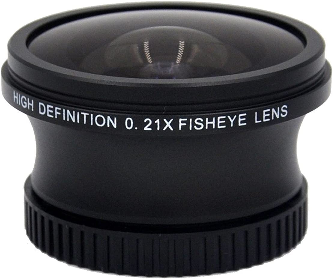 High Defintion 0.160x Lens Fish-Eye - New Super Fisheye Black Finish 58mm Lens w//Ring 67-58 Ring