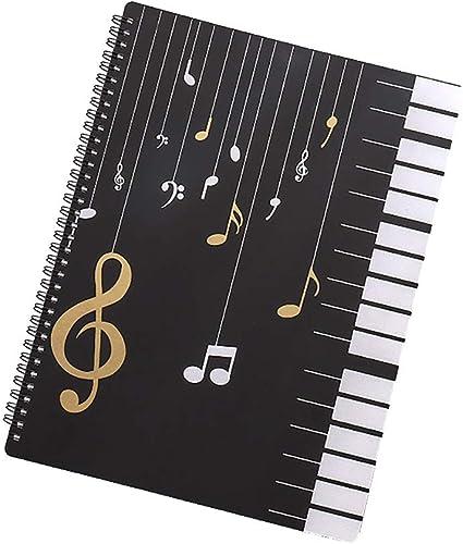 DEDC A4 Carpeta para Partituras Carpeta de Archivos de M/úsica Impermeable Almacenamiento de Partituras Organizador de Documentos Papel de Partitura Musical B