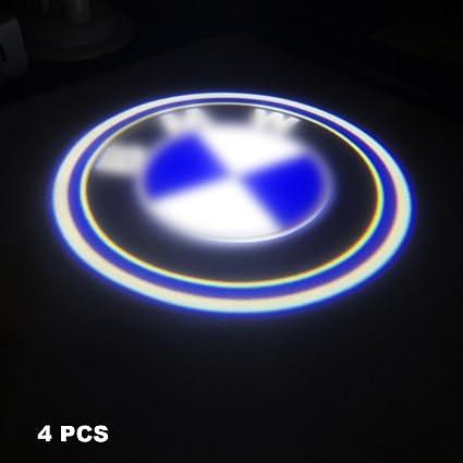 s-weka 4pcs LED para puerta de coche Logo tóner cortesía emblema ...