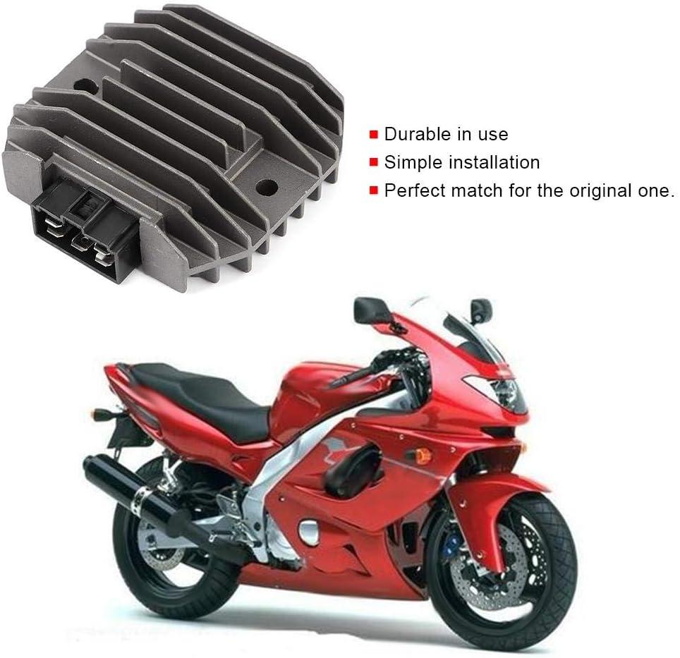 Qiilu Redresseur de tension de moto pi/èces de moto de redresseur de r/égulateur dalliage daluminium adapt/ées pour YZF YZFR6 FZ6 XP T-MAX