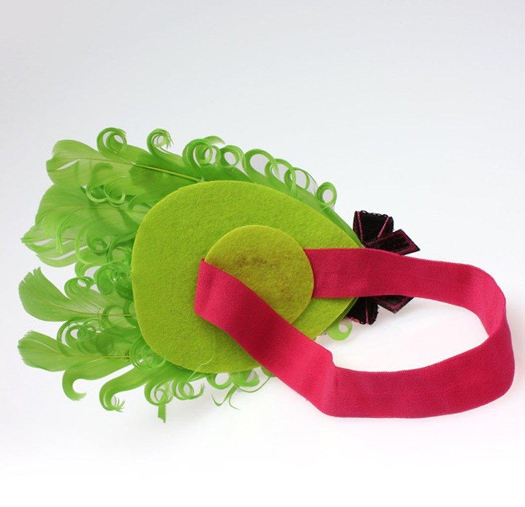 Waymeduo Lockiges Federstirnband des Haarbandbabys der Kinder
