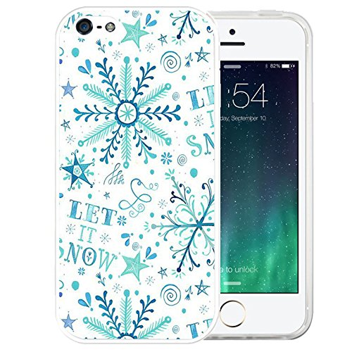 Price comparison product image iPhone SE Case Christmas, iPhone 5S Plus,  LAACO Beautiful Clear TPU Case Rubber Silicone Skin Cover for iPhone SE / 5 / 5S - Let it snow