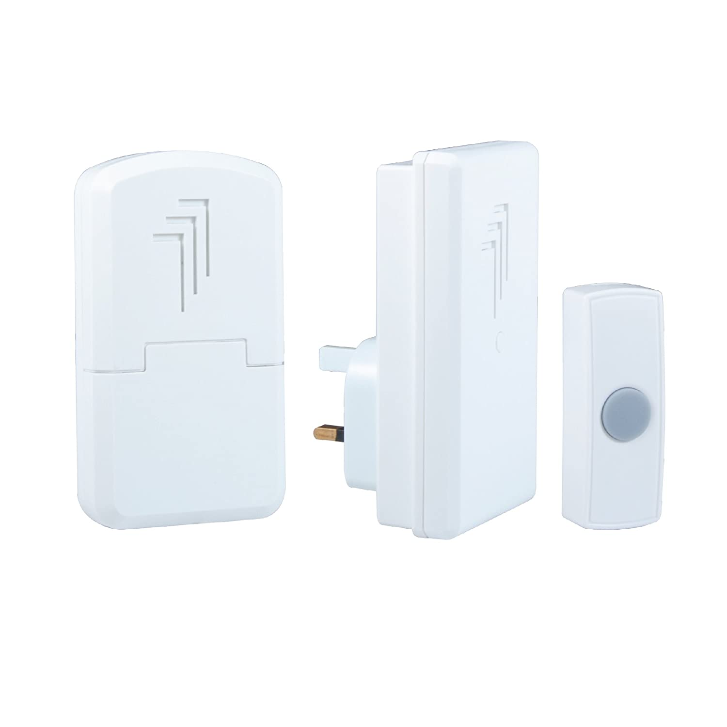 Byron DB312 30m Wireless Portable and Plug-In Door Chime Kit with 1 Sound