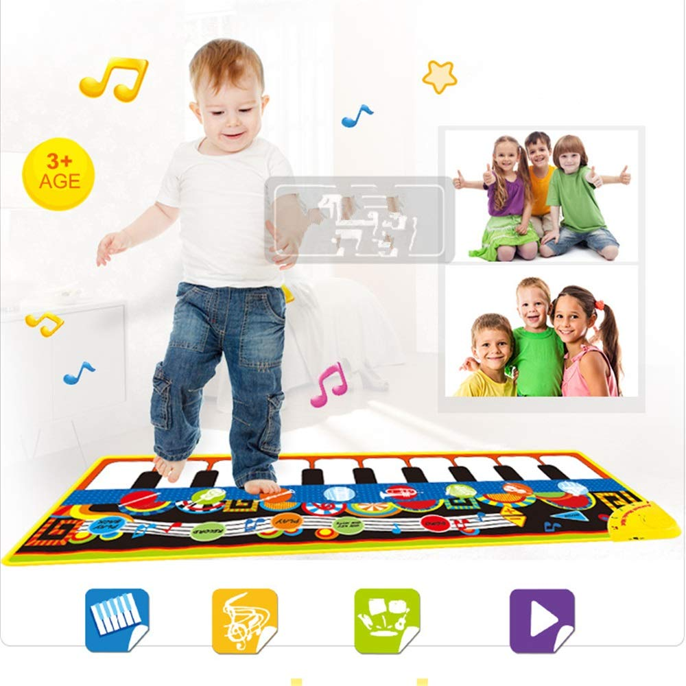 Play Keyboard Mat Electronic Musical Keyboard Playmat 43 Inches 10 Keys Foldable Floor Keyboard Piano Dancing Activity Mat Step And Play Instrument Toys For Toddlers Kids Children's Gift Different Mus by GAOCAN-gq (Image #6)