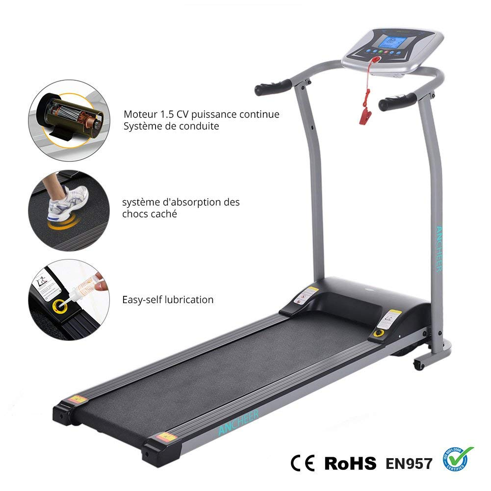 ANCHEER Treadmill Electric Treadmills for Home with LCD Monitor Motorized Walking Jogging Running Machine Trainer Equipment for Home /& Office Workout Indoor Exercise Machine