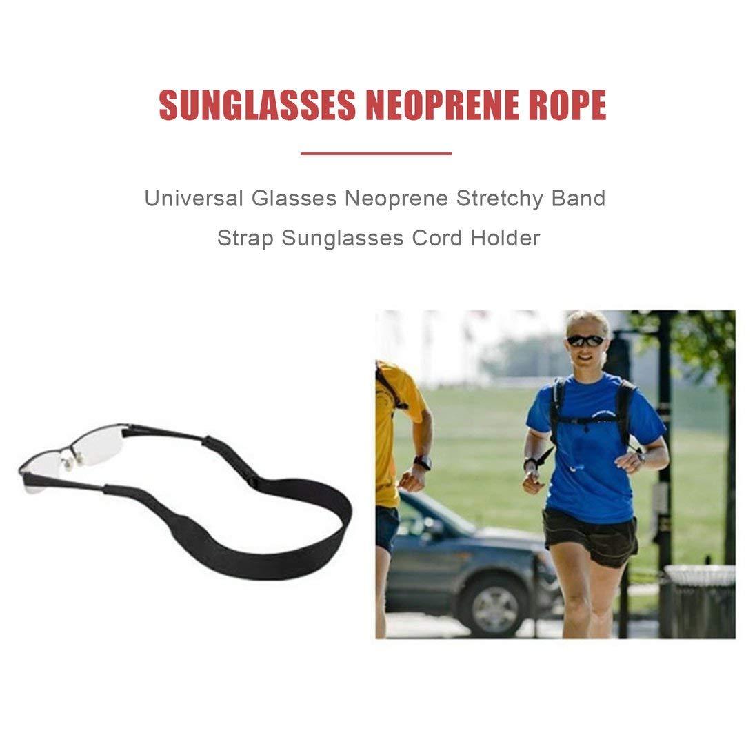 WEIHAN Occhiali da vista vintage solidi con cinturino per occhiali Occhiali da vista in neoprene Elastico universale Occhiali da sole Corda Porta corda