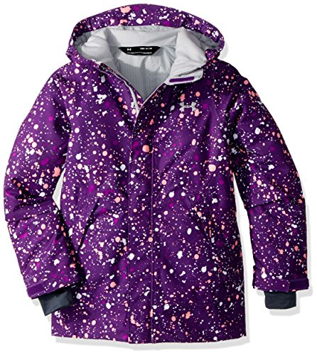 Under Armour Outerwear Youth Girls Cold Gear Infrared Power Line Ins Jacket, Indulge/Overcast Gray, (Girls Power Jacket)