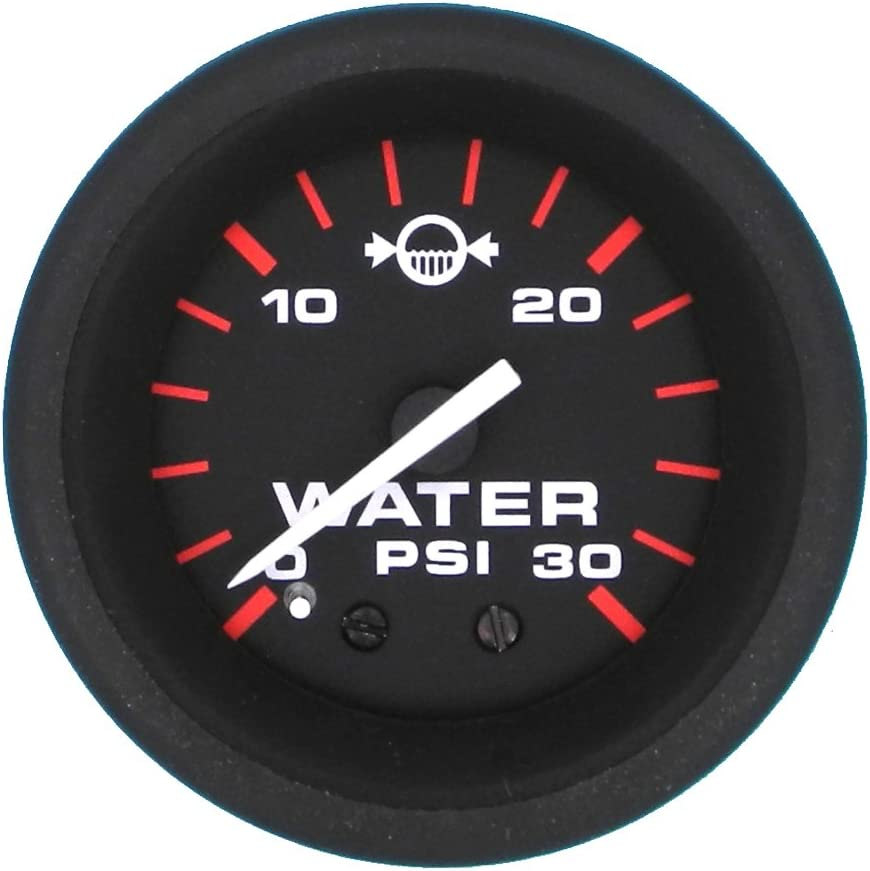 Teleflex Domed Red International Water Pressure Gauge 0-30 PSI 72370
