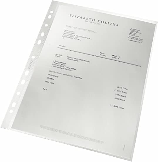 Leitz Lot de 100 pochettes transparentes recyclables