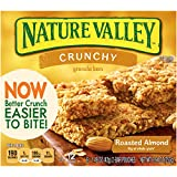 Nature Valley Crunchy Granola Bars, Roasted Almond, 12 Bars in 6 - 1.49 Ounce 2 Bar Pouches (Pack of 12)
