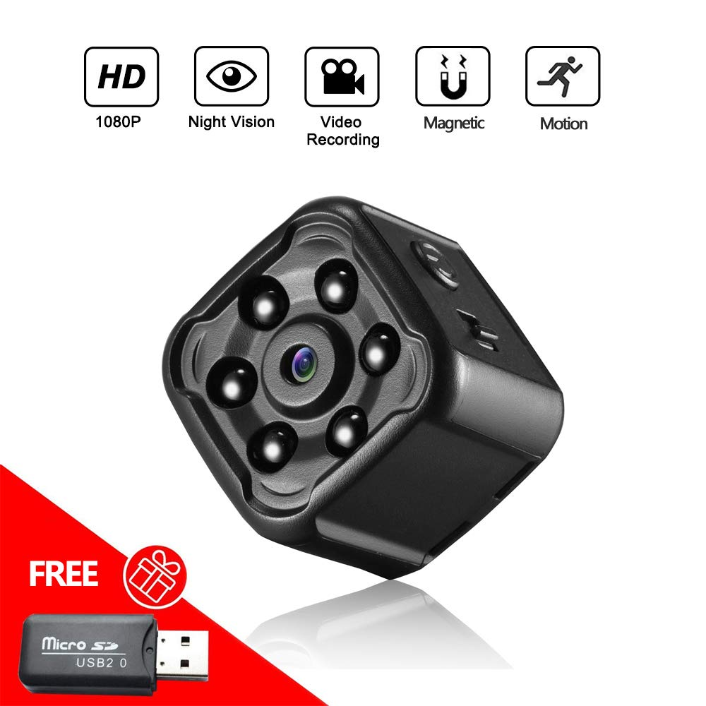 Hidden Camera, Mofek Mini Spy Camera HD 1080P Body Camera Cop Cam with Night Vision and Motion Detection for Home Security, Car, Office, Pet Baby Elder Monitor