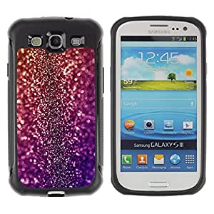 iKiki Tech / Estuche rígido - Bling Glitter Disco Design Party Shiny Dress - Samsung Galaxy S3 I9300