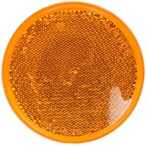 Grote 40053-5 Yellow Round Stick-On Reflector