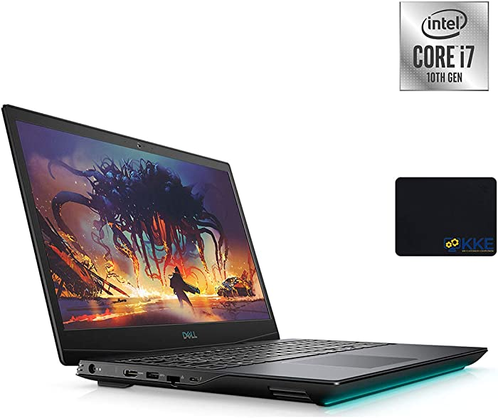 Dell 2020 G5 15.6'' FHD Gaming Laptop, Intel i7-10750H, NVIDIA GTX 1650Ti, 32GB DDR4 RAM, 1TB PCIe Solid State Drive, HDMI, WiFi, Backlit Keyboard, KKE Mouse Pad, Win10 Home
