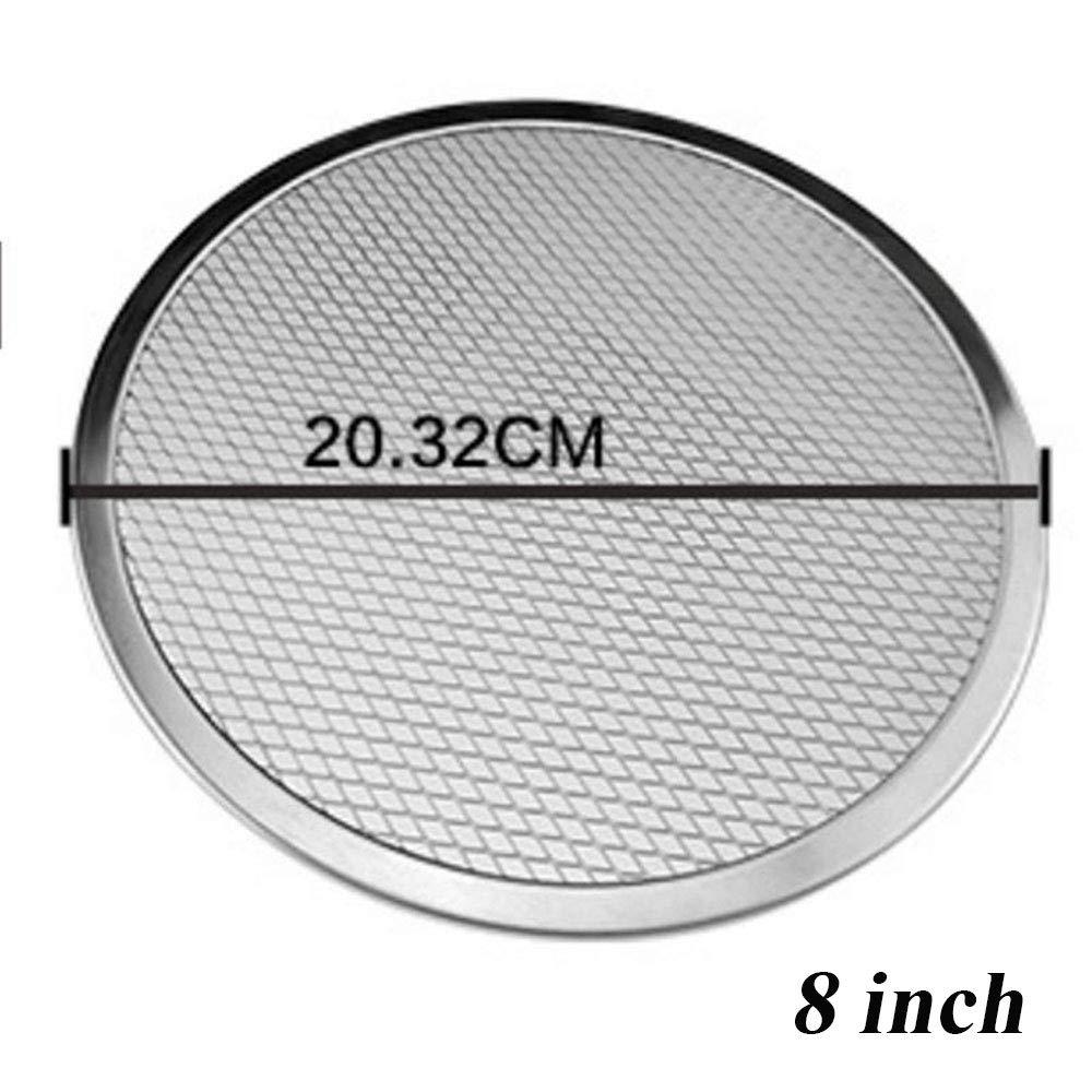 Bandeja de horno de malla plana de aluminio para pizza de 15,24 cm a 30,48 cm 8In
