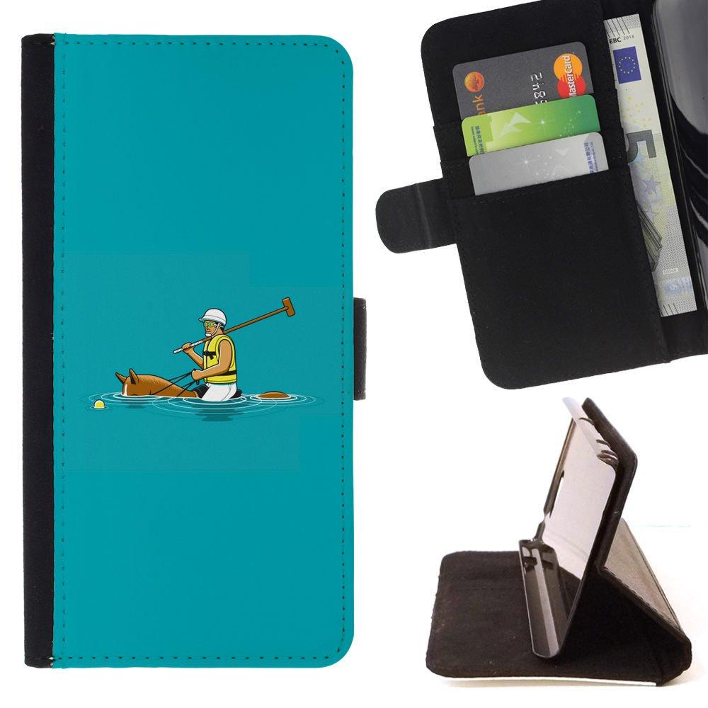 Momo - Teléfono móvil/funda de piel con tarjetero - Polo de ...