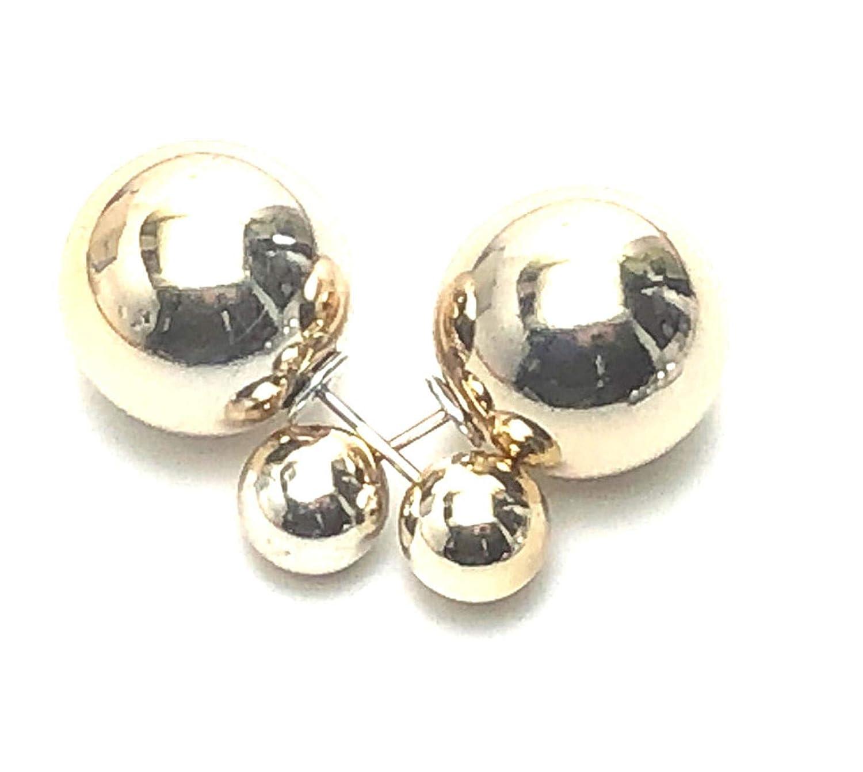 Trendy Simple Double Sided Luxury Stud Earrings For Women AZERDSA30