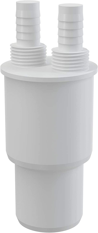 2 50xg1 Pl/ástico blanco conexi/ón reductor de la reducci/ón de residuos conector de la manguera 40