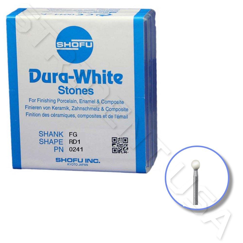 Shofu Dura White Mounted Stone Bur FG RD1 (12 per box) SH-0247