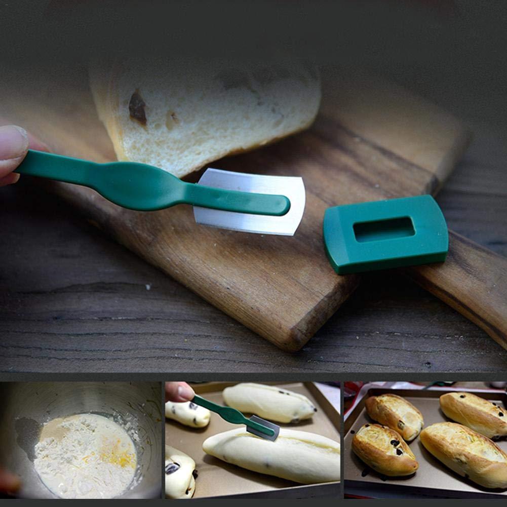 Curvo Utensilios de Cocina Hornearpara Cuchilla de Panadero o Cuchilla para Cortar la Masa de Pan Clevoers Panadero Cuchillo,Masa de Cuchillas de Afeitar con Cuchillos
