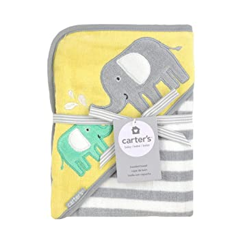 Carters Elephant Hooded Towel Velour Terry