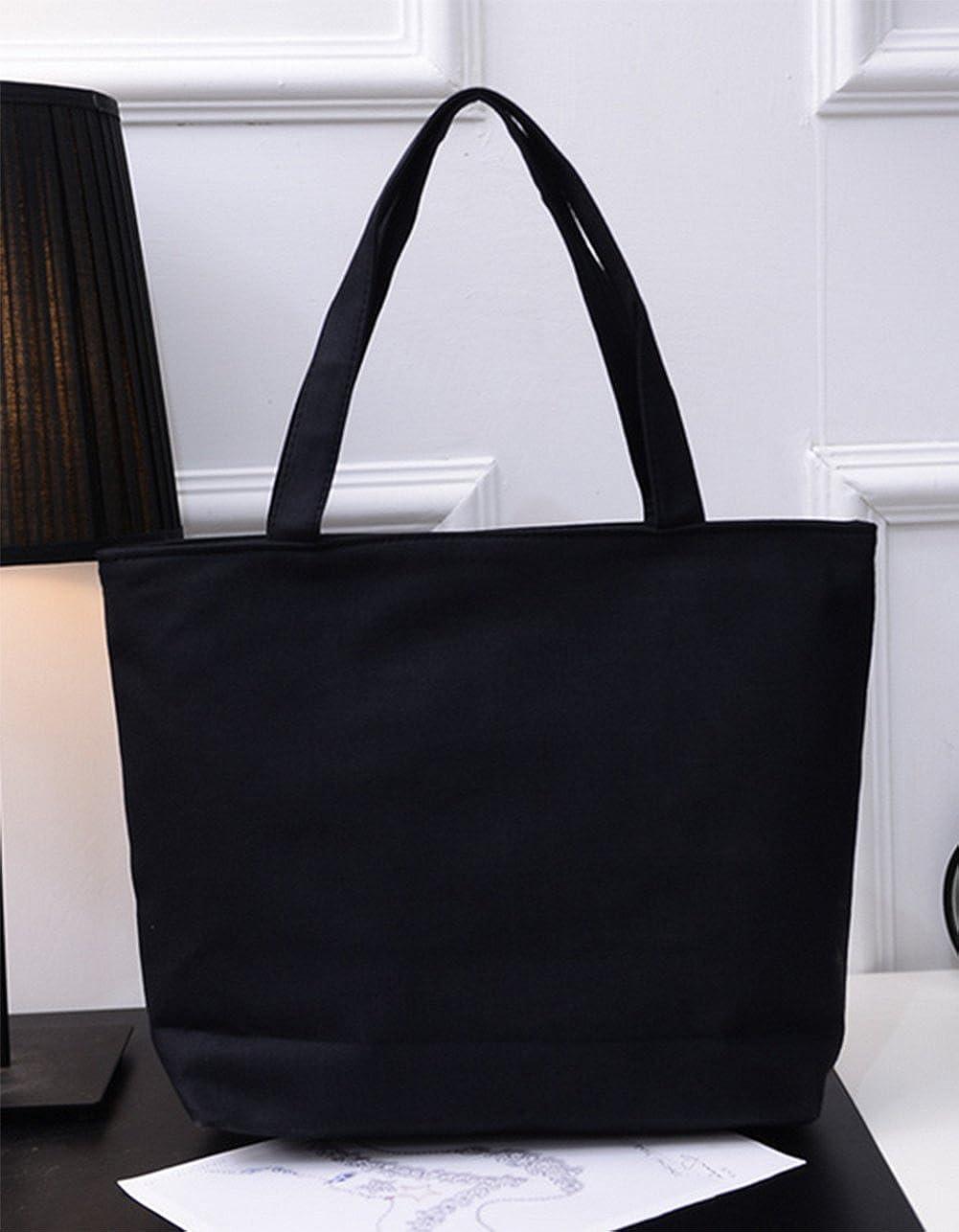 3ddc412b5a17 Amazon.com: Weimay Canvas Tote Bag Shoulder Handbag Simple Student ...