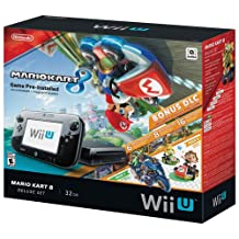 Nintendo Wii U 32GB Mario Kart 8 Bundle - Black