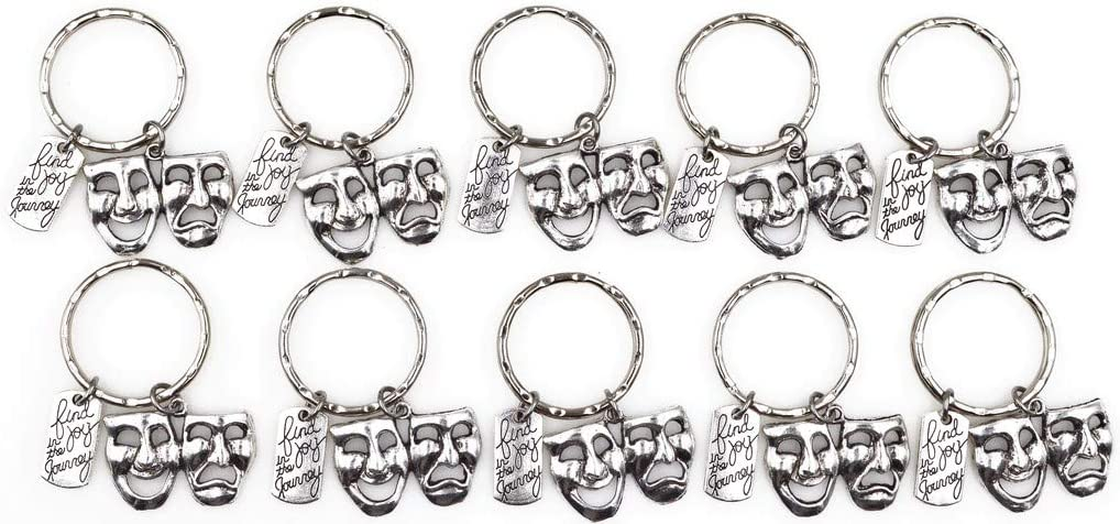 Find Joy in The Journey Comedy Tragedy Mask Theatre Theater Actor Actress Inspirational Broadway Musical Drama Teacher Gift Keychain 112X Its All About...You