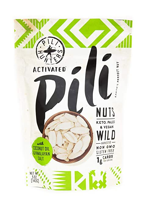 Wild Sprouted Pili Nuts with Himalayan Salt and Coconut Oil