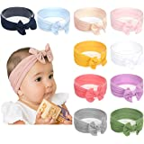 Baby Girl Nylon Headbands Newborn Infant Toddler Hairbands Knotted Children Soft Headwrap Hair Accessories (A-10pack…
