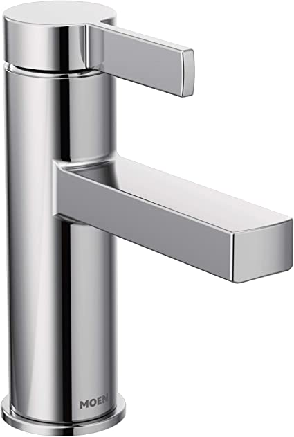 Moen 84774 Beric One Handle Single Hole Bathroom Faucet With Drain Assembly Chrome
