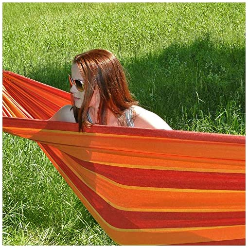 Garden and Outdoor Hammock Sky Brazilian Double Hammock 2 Person Extra Large Bed for Backyard, Porch, Patio, Lounging Outdoor and Indoor… hammocks
