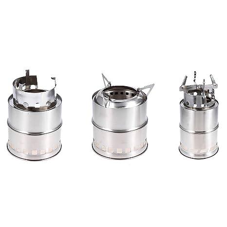 vyset (TM) peso ligero portátil estufa de leña de acero inoxidable limpieza de combustible