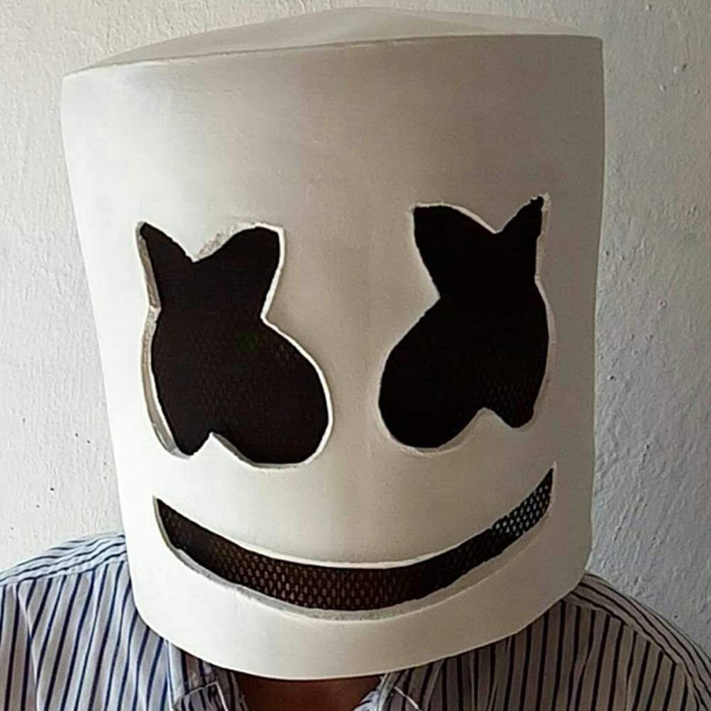 BESTOYARD DJ M/áscara de Halloween para Disfraz de Horror Zombie m/áscara de Fiesta Blanco