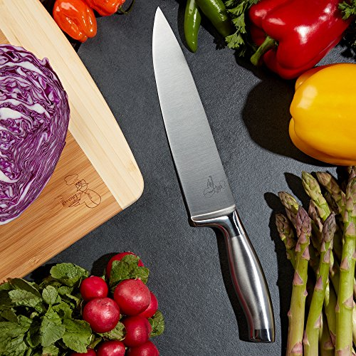Extra Large Organic Bamboo Cutting Board for Kitchen - NEW CRACK-FREE DESIGN - Best Wood Chopping Boards w/Juice Groove for Carving Meat, Wooden Butcher Block for Vegetables & Serving Tray for Cheese by Greener Chef (Image #2)