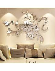 XX&GUO Wall Sticker Adesivi Murales Carta da Pareti ¡°Fiori Specchio¡± Decorazione Murali da Parete (A)