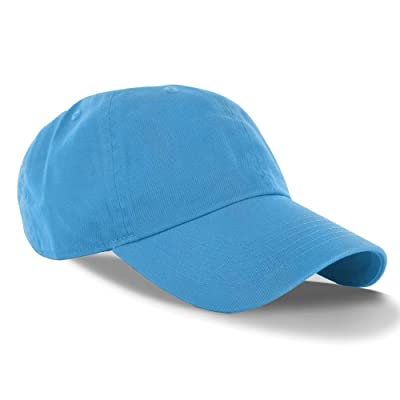 Aqua_(US Seller)Curved Bill Plain Baseball Cap Visor Hat Adjustable